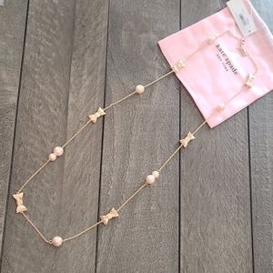 Kate Spade Bow and Pearl Necklace